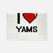 I love Yams digital design Magnets