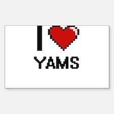 I love Yams digital design Decal