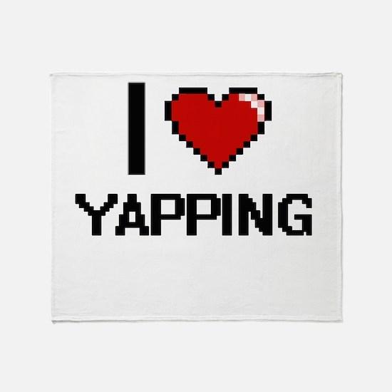I love Yapping digital design Throw Blanket