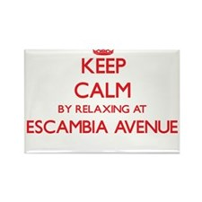 Keep calm by relaxing at Escambia Avenue A Magnets