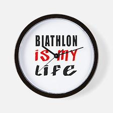 Biathlon Is My Life Wall Clock