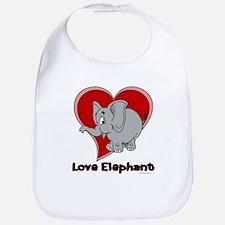 Love Elephant Bib