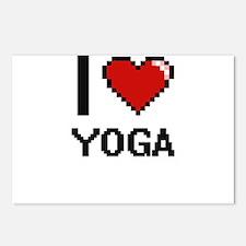 I love Yoga digital desig Postcards (Package of 8)