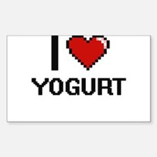 I love Yogurt digital design Decal