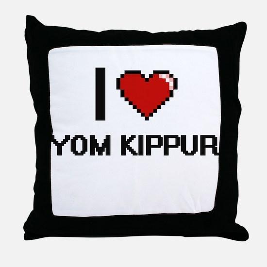 I love Yom Kippur digital design Throw Pillow
