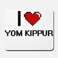 I love Yom Kippur digital design Mousepad