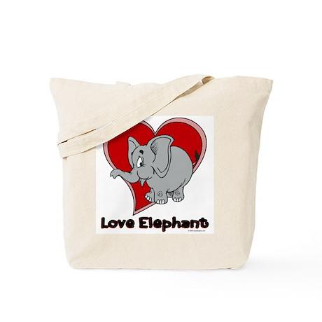 Love Elephant Tote Bag