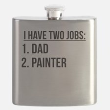 Two Jobs Dad And Painter Flask