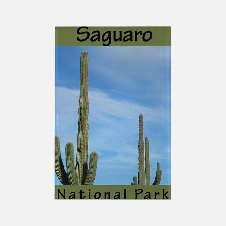 Saguaro National Park (Vertic Rectangle Magnet