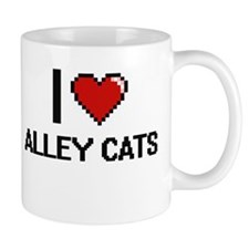 I love Alley Cats digital design Mugs