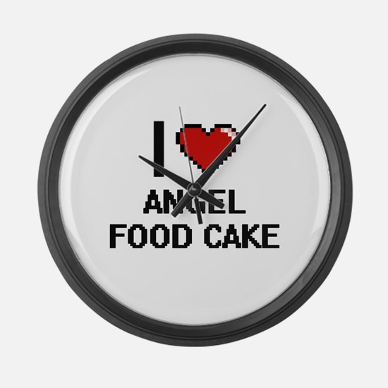 I love Angel Food Cake digital de Large Wall Clock