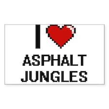 I love Asphalt Jungles digital design Decal