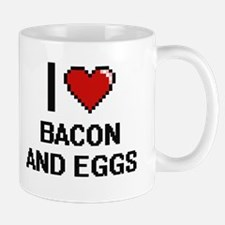 I love Bacon And Eggs digital design Mugs