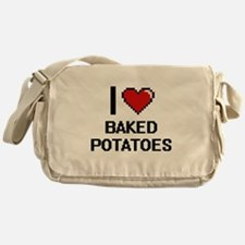 I love Baked Potatoes digital design Messenger Bag