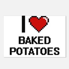 I love Baked Potatoes dig Postcards (Package of 8)