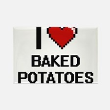 I love Baked Potatoes digital design Magnets