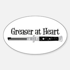 Greaser At Heart Decal