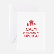 Keep calm by relaxing at Kipu Kai H Greeting Cards