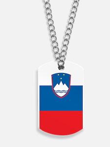 Slovenia Flag Dog Tags