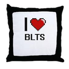 I love Blts digital design Throw Pillow