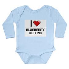 I love Blueberry Muffins digital design Body Suit