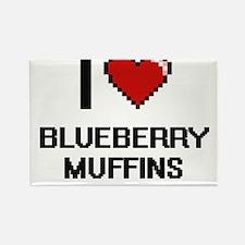 I love Blueberry Muffins digital design Magnets