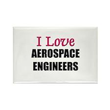 I Love AEROSPACE ENGINEERS Rectangle Magnet