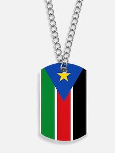 South Sudan Flag Dog Tags