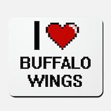 I love Buffalo Wings digital design Mousepad