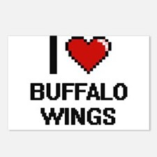 I love Buffalo Wings digi Postcards (Package of 8)