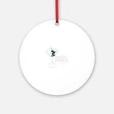 Martini Madness Round Ornament