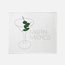 Martini Madness Throw Blanket