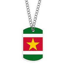 Suriname Flag Dog Tags