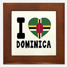 I Love Dominica Framed Tile
