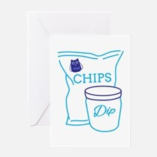 Chips And Dip Greeting Cards