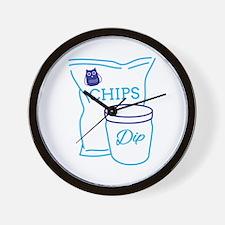 Chips And Dip Wall Clock