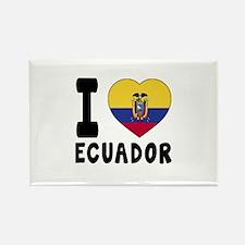 I Love Ecuador Rectangle Magnet