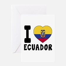 I Love Ecuador Greeting Card