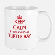Keep calm by relaxing at Turtle Bay Hawaii Mugs