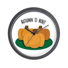 Autumn Is Here Wall Clock
