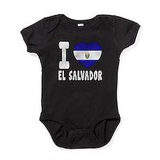 I Love El Salvador Baby Bodysuit