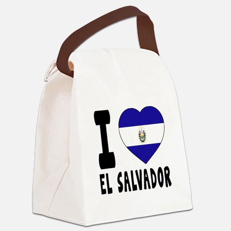 I Love El Salvador Canvas Lunch Bag