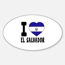 I Love El Salvador Decal