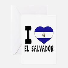 I Love El Salvador Greeting Card