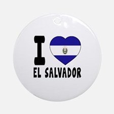 I Love El Salvador Round Ornament
