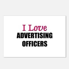 I Love ADVERTISING OFFICERS Postcards (Package of