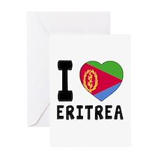 I Love Eritrea Greeting Card