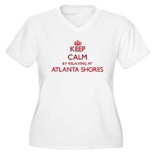 Keep calm by relaxing at Atlanta Plus Size T-Shirt