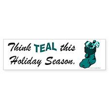 Teal Stocking 1 (OC) Bumper Bumper Sticker