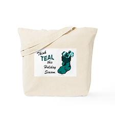 Teal Stocking 1 (OC) Tote Bag